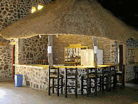 The thatched bar at Elangeni Resort